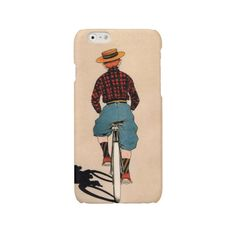 iPhone 7 case bike iPhone 6 case vintage iPhone 6 Plus case boy on bike iPhone 5 5s
