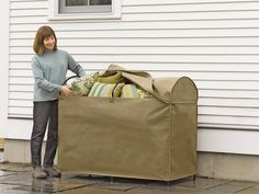 Protect Outdoor Cushions From Sun, Moisture, Windblown Debris And Pollen  With This Cushion Storage Chest.