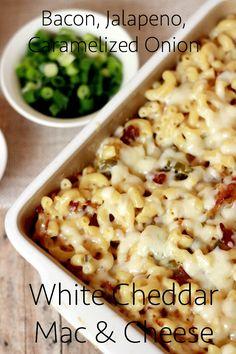 Bacon, Jalapeno, & Caramelized Onion White Cheddar Mac & Cheese