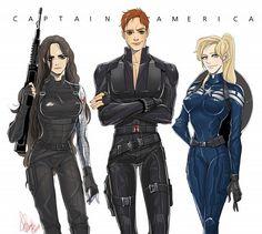 FEM captain America Femslash Goodness Marvel, Marvel