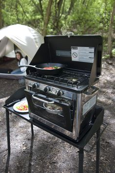 Amazon.com : Camp Chef Camping Outdoor Oven with 2 Burner Camping Stove : Portable Propane Oven : Kitchen & Dining