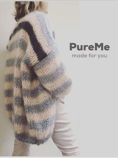 Knitting Stitches, Knitting Designs, Knitting Patterns Free, Knit Patterns, Knitting Projects, Hand Knitting, Crochet Shirt, Crochet Cardigan, Knit Crochet