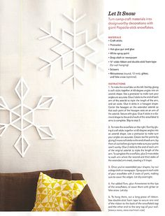 Christmas decor again. I forsee crafts in my future with the boys! Christmas Love, Christmas Holidays, Christmas Crafts, Christmas Ornaments, Xmas, Silver Christmas Decorations, Christmas Settings, Popsicle Stick Snowflake, Diy Snowflakes