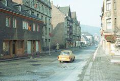 DDR Aue / Sachsen Oktober 1985 | Oktober 1985.Schwarzenbergerstrasse. Kamera : Canon T70