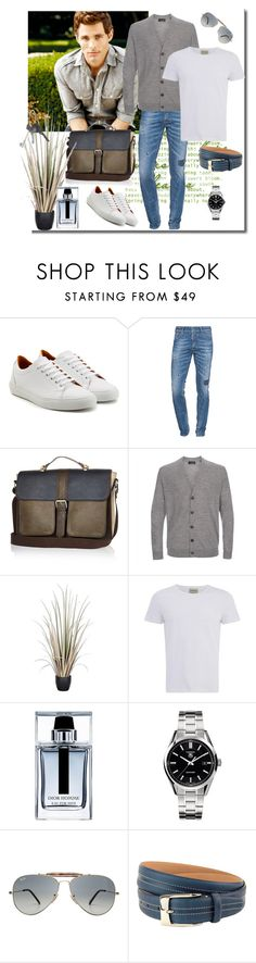 """For men"" by murenochek ❤ liked on Polyvore featuring Ludwig Reiter, Dsquared2, Paul Smith, Oliver Spencer, Christian Dior, TAG Heuer, Ray-Ban, The British Belt Company, Givenchy and men's fashion"