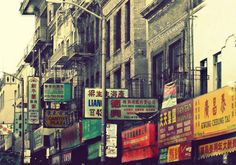 "San Francisco Photo. Chinatown Photo. ""Chinatown SF"" 8.5x11inch Photo. City. Urban. Asian. Buildings. red. green. yellow. gray. China. $24.50, via Etsy."
