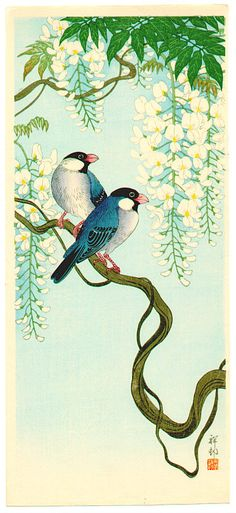 Ohara Koson (1877-1945) Ohara Koson is considered by many to be the foremost 20th century designer of bird and flower prints, or kacho-e. His designs were produced in prolific numbers for a primarily Western market and range from haunting realism to humorous depictions of animals at play.