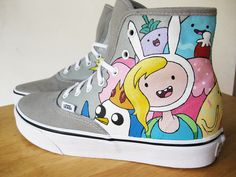 6830710aac9435 vans Adventure Time fashion beautiful cake advertising fionna custom shoes  peppermint butler cake the cat prince