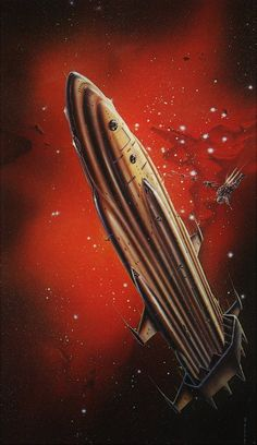 1977 - Impressive space art by Gordon Davies. Used for cover art (Starship Troopers), and posters. Stargate, The Stars My Destination, Arte Sci Fi, Retro Rocket, 70s Sci Fi Art, Space Artwork, Starship Troopers, Arte Tribal, Spaceship Art