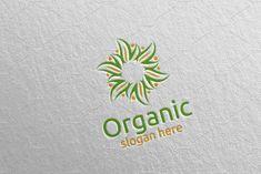 Natural and Organic Logo design template 28 Logo Design Template, Logo Templates, Farm Logo, Organic Logo, Company Brochure, Free Design, Ad Design, School Design, Textures Patterns