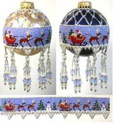 Santa is Ready Beaded Ornament by Deb Moffett-Hall aka Patterns to Bead