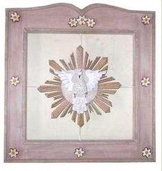 Quadro divino espirito santo 50cm x 50cm  21 2705-3292