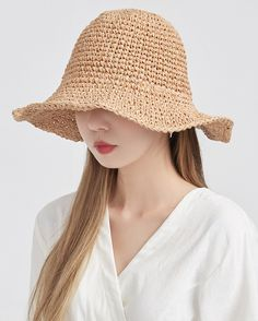 wire straw hat (2 colors)