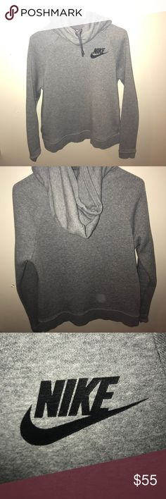 Small Nike Sportswear Rally Funnel Neck Hoodie Fleece line funnel neck hoodie in excellent condition. It has pockets and is extremely stylish, I've only word it a couple times and it's pretty new! Nike Jackets & Coats