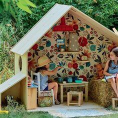 New Diy Outdoor Kids Playhouse Easy Ideas Kids Outdoor Play, Backyard For Kids, Diy For Kids, Outdoor Play Spaces, Outdoor Dog, Cubby Houses, Play Houses, Garden Huts, Backyard Playground