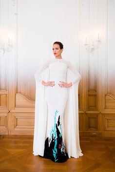 Nieves Álvarez, con creación de Stéphane Rolland Alta Costura otoño-invierno 2014-2015