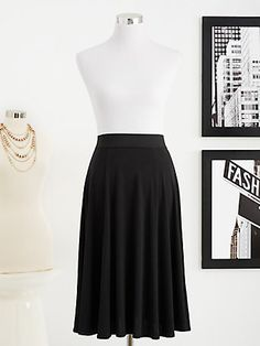 Eva Mendes Collection - Seamed Flare Skirt - New York & Company