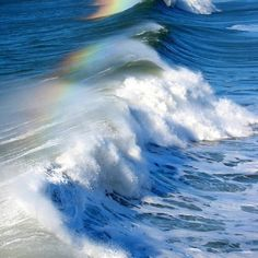 Rainbow in the waves