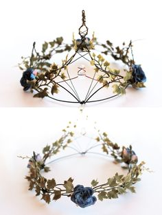 Moon Goddess Market by TheMoonGoddessMarket - new season bijouterie Diy Crown, Diy Flower Crown, Nice Flower, Floral Crown, Witch Fashion, Dress Fashion, Fashion Fashion, Circlet, Tiaras And Crowns