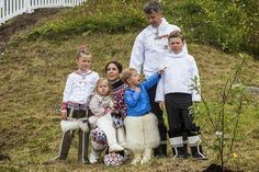 03 AUGUST 2014  Crown Prince Frederik and Crown Princess Mary Crown Prince Frederik,Crown Princess Mary and their children visited Qaqortoq,Greenlad