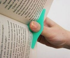 This Book Page Holder will free up one of your hands from holding your book open! Simple yet effective. It's great for reading with one hand...