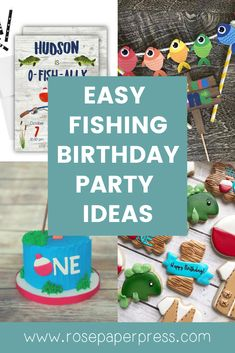 The best ideas for hosting a Fishing Birthday Party for kids. O'fishally one birthday party ideas including invitations, cookies, cake, and decorations. Kids Birthday Themes, Birthday Name, Birthday Invitations Kids, 1st Birthday Parties, Picture Banner, Girl Fishing, Cake Cookies, Holiday Cards, Banners