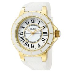 Fab.com | Marina Watch Wmns Gold-Tone IP - So PRITTĒ!  Love the white and gold.