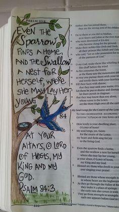 Psalms From Dianne Gottron's Bible. Bible Psalms, Bible Prayers, My Bible, Scripture Art, Bible Art, Scripture Journal, Art Journaling, Bible Quotes, Bible Doodling