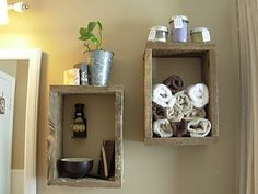 barnwood cubbies I can make out of my left over wedding decor...I have tons of these wooden boxes