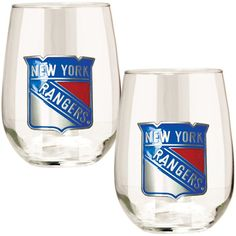 NHL New York Rangers Stemless Wine Glass Set