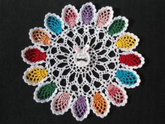 handmade crochet doily Easter Bunny and Easter Eggs Easter doily