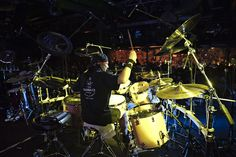 MIKE MANGINI drummers live exibition in Rome