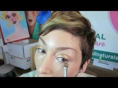 How to Foil Eye Shadow Using Mineral Makeup in Copper  www.allnaturalskincare.com