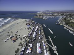 Aerial shot of Oceanside Harbor Days. Always the third weekend in September