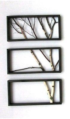 Aspen Wall Stencil | La Naturaleza al interior: ideas para decorar con ramas