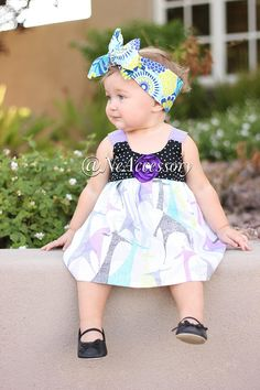 Floral Headband Scarf Baby Floral Fabric  Head Wrap by NeAccessory