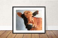 Cow Painting, Cow Art, Cow PRINT - Cow Oil Painting, Holstein Cow, Farm Animal Art, Farmhouse Art, Prints of Farm Animals, Farm Wall Art by JamesCoatesFineArt2 on Etsy Holstein Cows, Cow Painting, Cow Art, Farm Animals, Wrapped Canvas, Original Paintings, Farmhouse, Oil, Art Prints