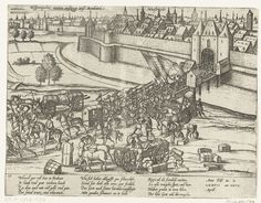Spanishe Fury Maastricht 1577/English: Spanish soldiers leaving Maastricht Netherlands 27 april 1577 Nederlands: Spaanse soldaten verlaten Maastricht, 27 april 1577 Date 	between 1613 and 1615 Source 	Rijksmuseum Amsterdam Author 	Hogenberg, Frans: