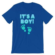 It's a Boy Short-Sleeve Unisex T-ShirtGender reveal Boy Shorts, Gender Reveal, Trending Outfits, Unisex, Boys, Sleeve, Mens Tops, T Shirt, Fashion