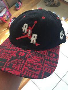 5d180c1963f04 ... new zealand vintage 80s genuine nike air jordan jumpman snapback cap hat  very rare nba 9df25