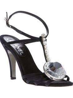 Chanel Vintage crystal embellished sandal | cynthia reccord