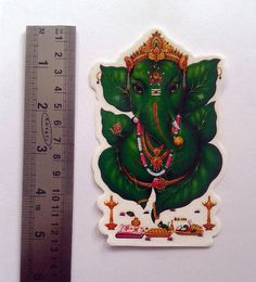 1 Ganesh Sticker Inch (with 1 Free Surprise Gift Sticker) Mix Photo, Vintage India, New Years Sales, Hanuman, Surprise Gifts, Ganesh, Calves, Cow, Sticker