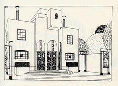 Une cité moderne, Robert Mallet Stevens. Cinéma (n° 1)