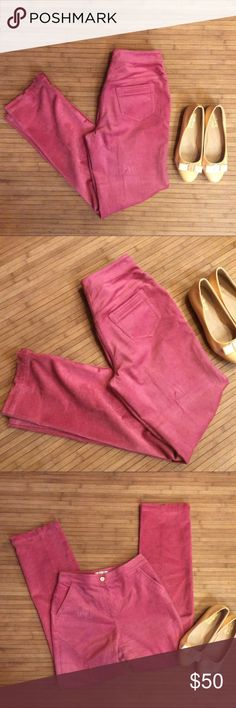 St. John Sport Pants! St. John Sport pink pants! High end and super be. Nice material. Have pockets. More of a dusty rose color. St. John Pants
