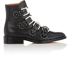 Givenchy Studded Buckle-Strap Ankle Boots - Boots - 504018907