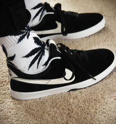 huf socks + nike shoes
