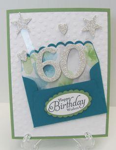 60th pop-up birthday card