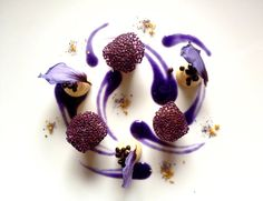 Recipe | Parsnip with Chamomile, Parsnip Cream with Anise, Black Garlic Pearls, Chia Seed Leafs & Red Cabbage Sauce | FOUR Magazine