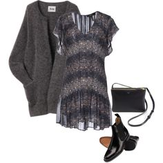 A fashion look from September 2014 featuring Isabel Marant dresses ve CÉLINE handbags.