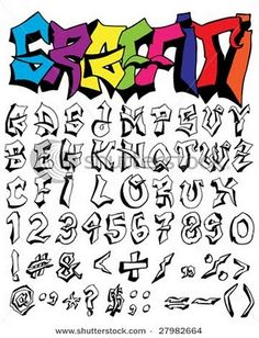 How to Draw Graffiti Letters A-Z | ... . Example graffiti alphabet a-z. Colorful graffiti alphabet letters